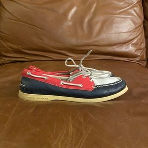 Sperry Topsider- Red, White, & Blue Boat Shoes